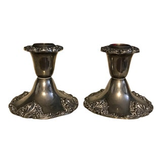 Godinger Silver Art Candle Holders - a Pair