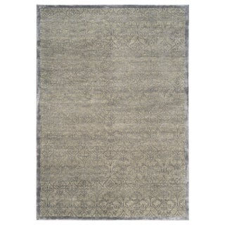 Stark Studio Rugs Contemporary Oriental Wool and Bamboo Silk Rug - 5' X 7' For Sale