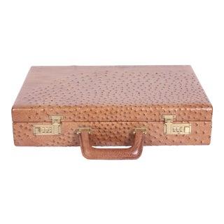 Vintage Genuine Ostrich Leather Lawyer Briefcase