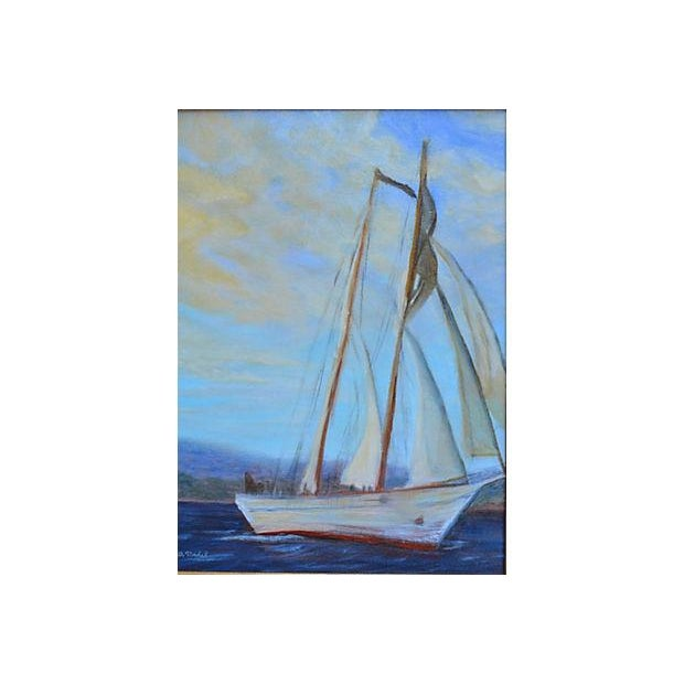 Irving Johnson, Santa Barbara Seascape Painting - Image 2 of 3