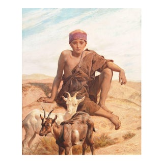 Frederick Goodall r.a., 'Academic Study of a Young Bedouin Goatherd, Egypt', Tate Gallery, 1888 For Sale