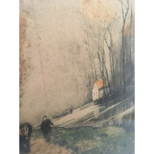"""Canal en Automne (France)"" Signed Henri Jourdain Color Etching For Sale - Image 10 of 13"