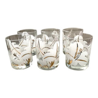 Set of Six Edgar Watkins Lilly Glasses For Sale