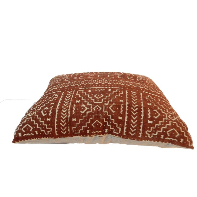 """African African Custom Made Mud cloth Pillow 20 """" by 17"""" W For Sale - Image 3 of 5"""