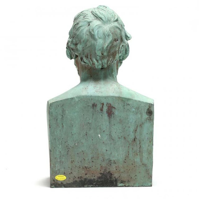 Portraiture Patinated Bronze Bust of George Cruikshank by William Behnes For Sale - Image 3 of 4