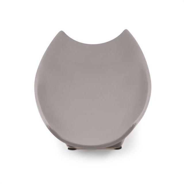 Kenneth Ludwig Chicago Kenneth Ludwig Matte Gray Ceramic Canoe Tray For Sale - Image 4 of 7