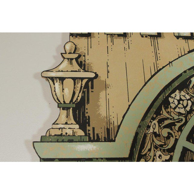 Pair of prop mirrors with neoclassical hand painted frames on lauan board. These were original used in a theatrical...
