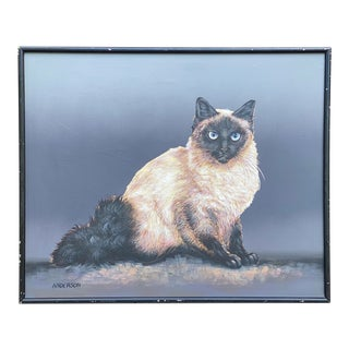 Himalayan Cat Painting by Anderson For Sale