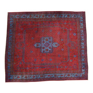 1920s Vintage Turkish Oushak Rug - 16′8″ × 19′1″ For Sale