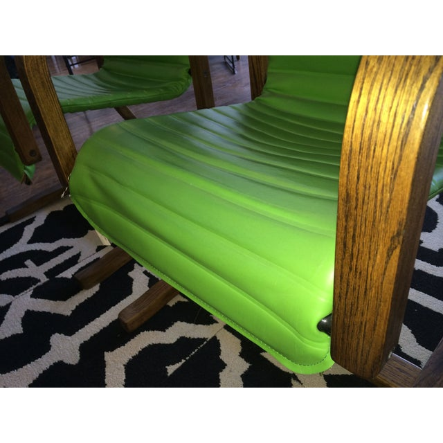 Thonet Bentwood Lounge Chairs in Green - A Pair - Image 6 of 8