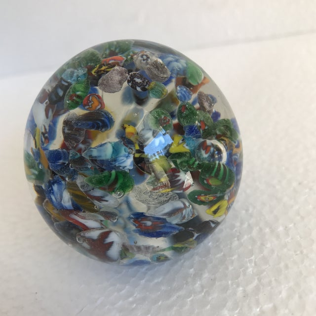 Bubble Glass Vintage Paperweights - A Pair For Sale In Los Angeles - Image 6 of 8