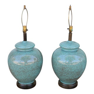 Ceramic 1960's Pair of Table Lamps