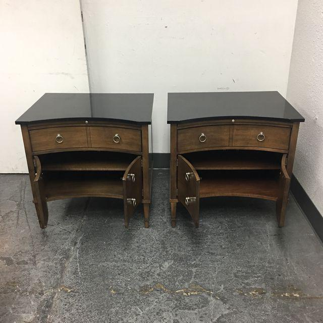 Hickory Chair Lancaster Side Tables - A Pair - Image 4 of 10