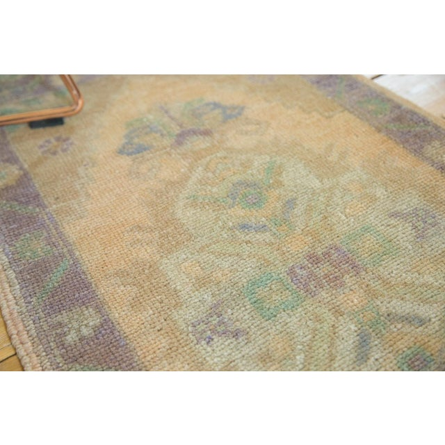 "1960s Vintage Distressed Oushak Rug - 1'9"" X 3'6"" For Sale - Image 5 of 5"