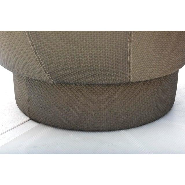 Vladimir Kagan Early and Rare American Modern Pair of Barrel Swivel Chairs, Vladimir Kagan For Sale - Image 4 of 10