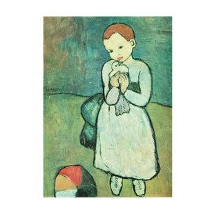 1971 Picasso l'Enfant Au Pigeon Parisian Photogravure For Sale