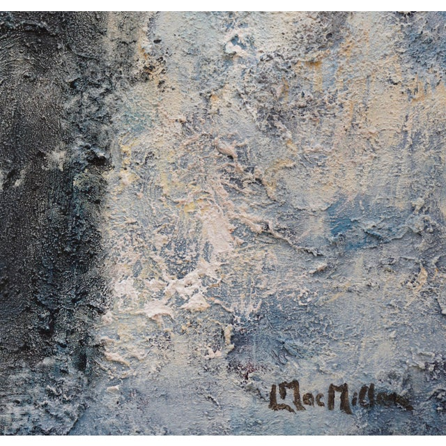 """""""Night Walk"""" Contemporary Abstract Acrylic Painting by Laurie MacMillan, Framed For Sale In Los Angeles - Image 6 of 7"""