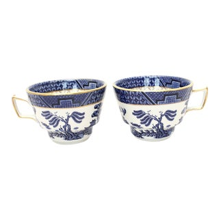 "Booth's ""Real Old Willow"" Tea Cups - Set of 2 For Sale"