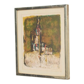 Modern European Abstract Landscape Lithograph For Sale