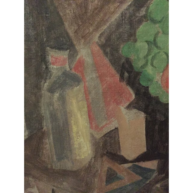 1930s Earl Horter Cubist Oil Painting For Sale - Image 4 of 10