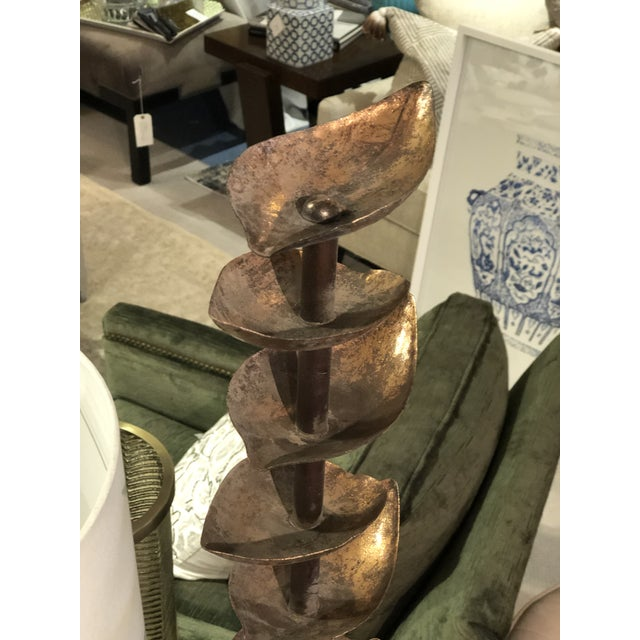 Folk Art Stacked Leaf Fountain from Kenneth Ludwig Home For Sale - Image 3 of 7