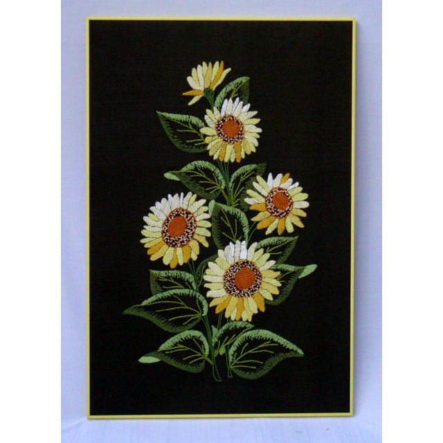 Vintage Sunflowers Original Needlepoint Art - Image 4 of 8