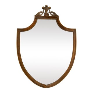 Federal-Style Mahogany Shield Mirror For Sale