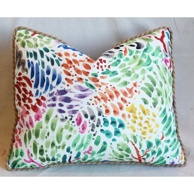 """Early 21st Century Clarence House Fabric and Scalamandre Mohair Feather/Down Pillows 23"""" X 19"""" - Pair For Sale - Image 5 of 13"""
