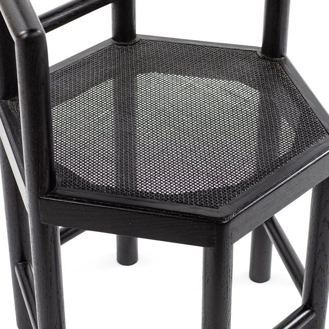 Not Yet Made - Made To Order Tamarisk Chair in Black For Sale - Image 5 of 6