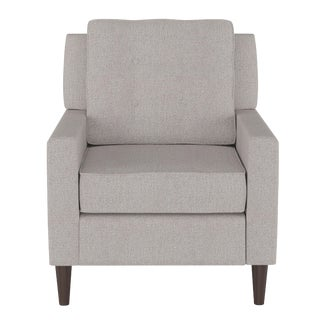 Armchair in Aiden Platinum For Sale