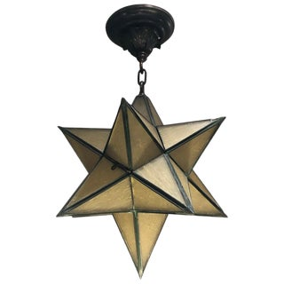 1920s Moravian Star Pendant Chandelier For Sale