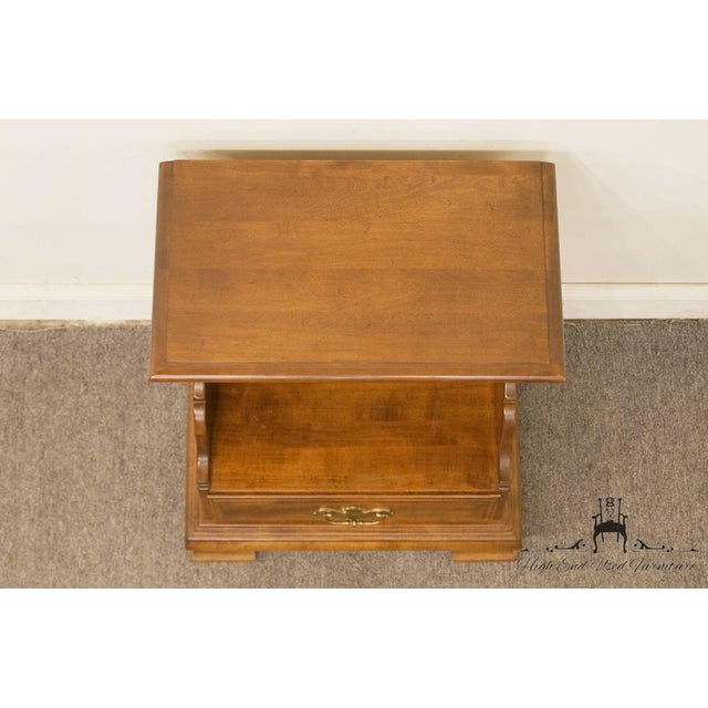Late 20th Century Ethan Allen Classic Manor Cabinet Nightstand For Sale - Image 5 of 13