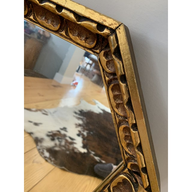 1960s Gothic Wood Coffin Shaped Mirror For Sale - Image 5 of 6