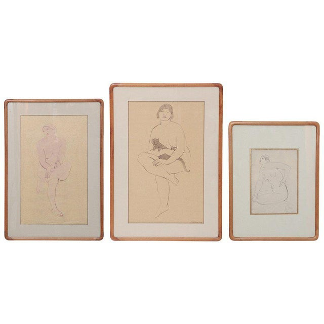Three Lovely Watercolors by Maurice Sterne For Sale - Image 10 of 10