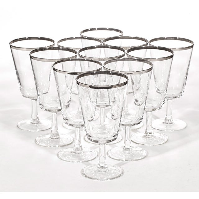 1960's Silver-Rim Water Stems - Set of 11 - Image 3 of 4