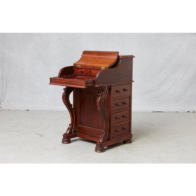 20th Century Walnut Piano Top Davenport Desk For Sale In New York - Image 6 of 13