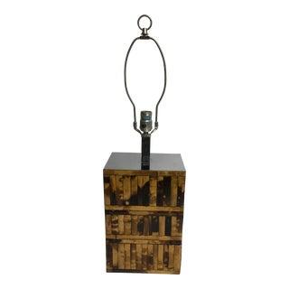 Karl Springer Inspired Chrome Bamboo Lamp For Sale