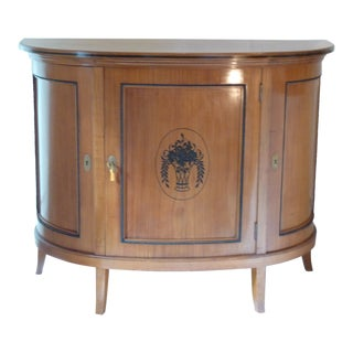 Biedermeier Style Demi-Lune Buffet For Sale