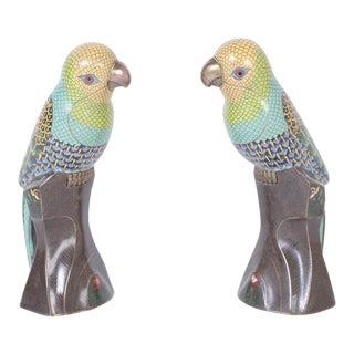 Chinese Cloisonné Birds - A Pair For Sale