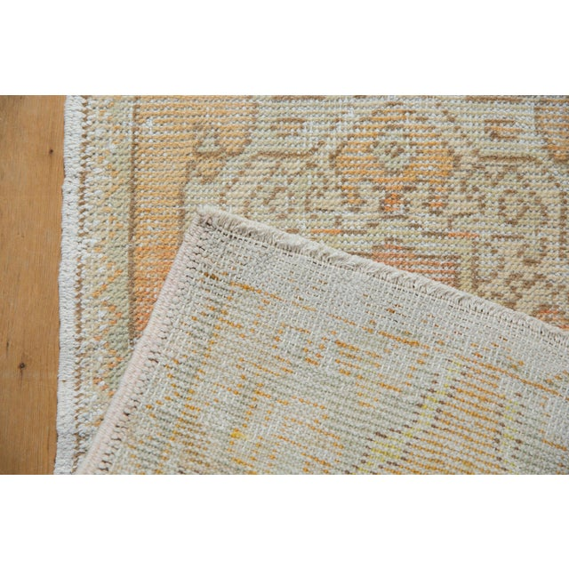 "Old New House Vintage Distressed Oushak Rug Mat - 1'7"" X 3'1"" For Sale - Image 4 of 7"