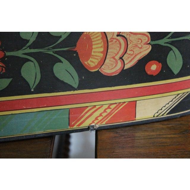 Orange 20th Century Art Nouveau Band Hat Box For Sale - Image 8 of 9