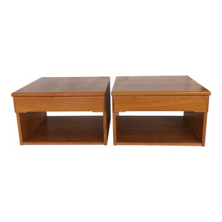 Vintage Danish Mid-Century Teak Floating Nightstands - a Pair For Sale