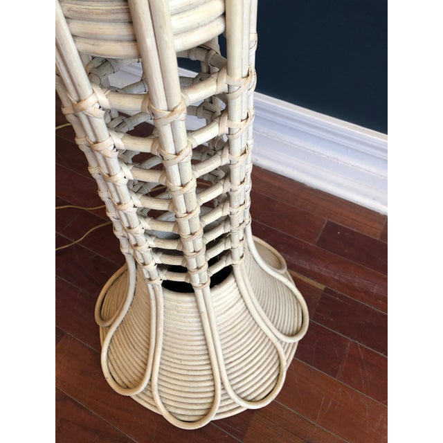 1960s Southbeach Style Rattan Floor Lamp For Sale - Image 5 of 11