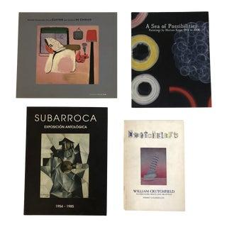 Modern Art Exhibition Catalogs William Crutchfield/Merion Estes/Subarroca/Guston & De Chirico - Set of 4 For Sale