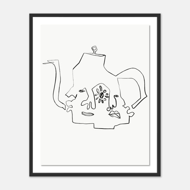 Black Black and White Gallery Wall, Set of 6 For Sale - Image 8 of 10