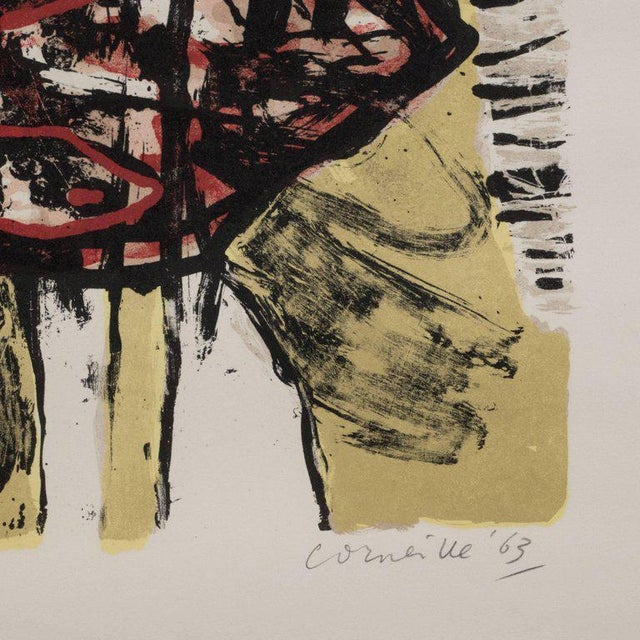 """""""Le Soleil Rouge"""" Lithograph Printed in Colors, 1963 For Sale - Image 4 of 9"""