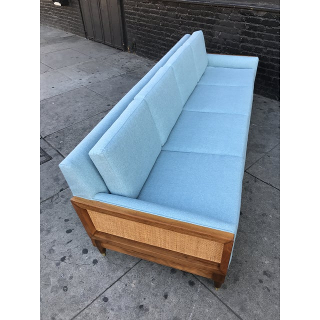 Vintage Mid Century Long Sofa For Sale In Los Angeles - Image 6 of 13