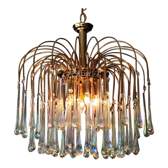 Italian Murano Glass Teardrop Chandelier