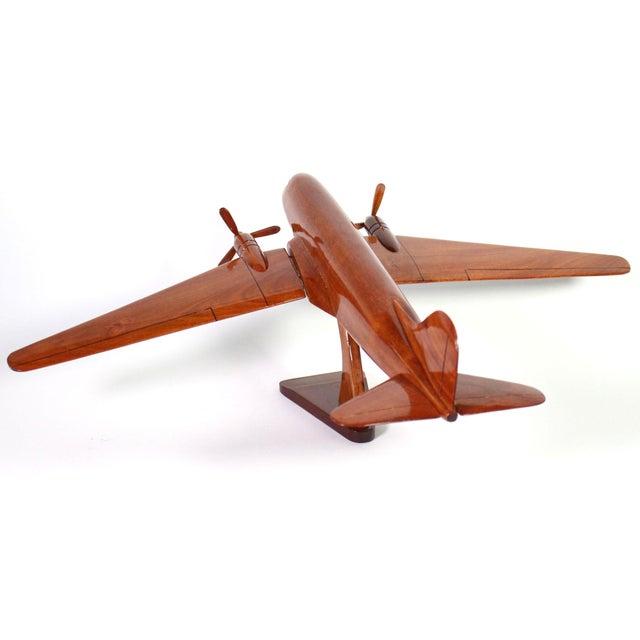 "1970s Mid-Century Solid Wood DC-3 ""Dakota"" Model For Sale - Image 5 of 7"
