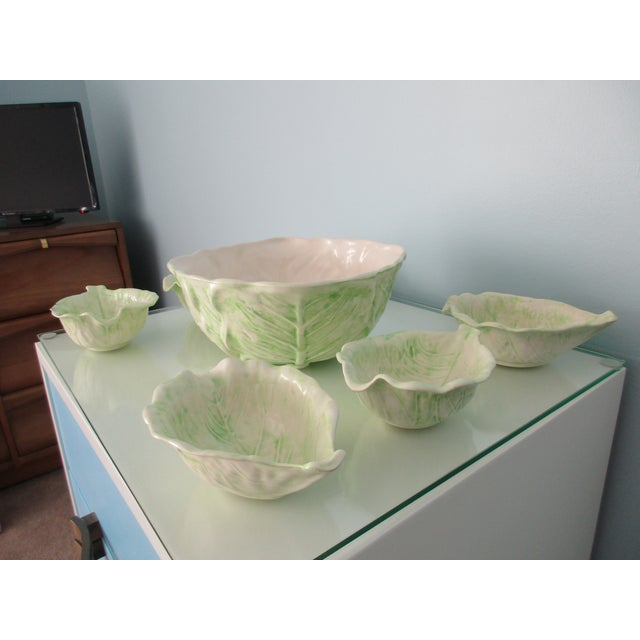 1970s 1970s Cabbage Ware - Set of 7 For Sale - Image 5 of 12